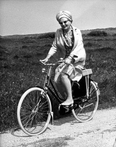 Juliana na rowerze