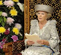 Koningin Beatrix houdt troonrede
