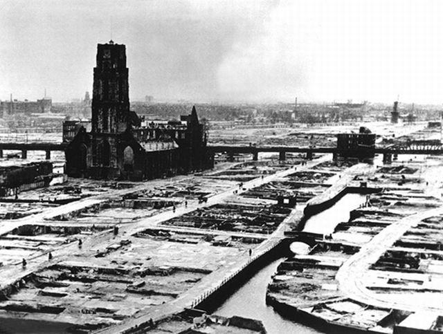 Rotterdam zbombardowany