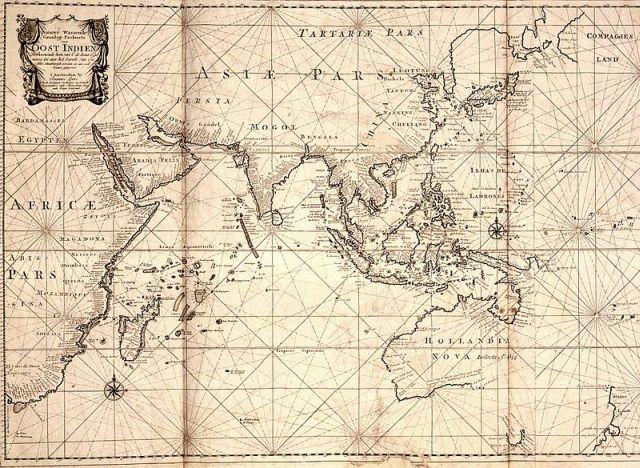 mapa VOC 1700