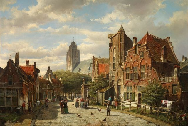 willem_koekkoek__a_dutch_street