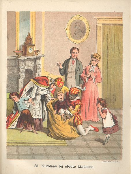 Nikolaas_bij_stoute_kinderen 1885