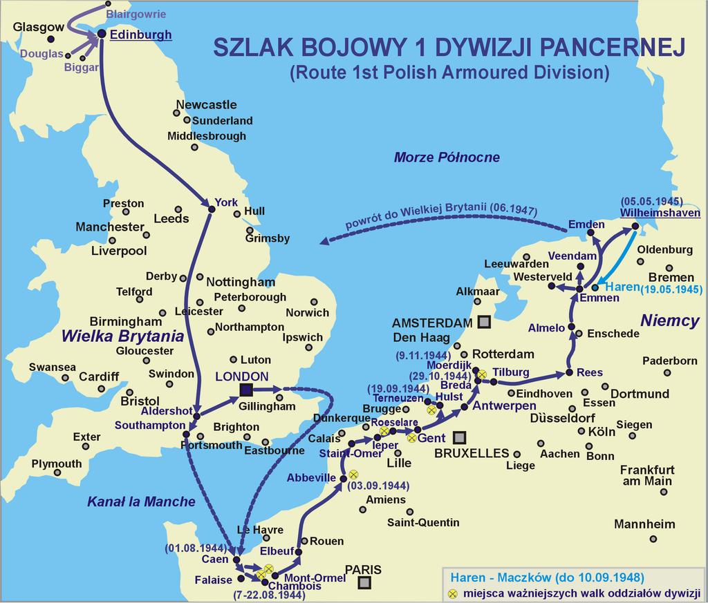 1_Dywizja_Pancerna_route