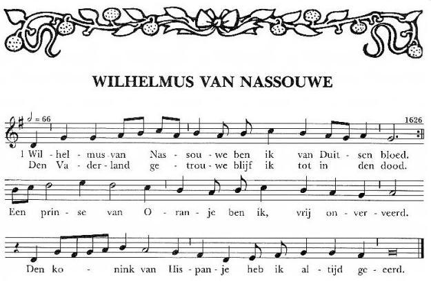 Wilhelmus_bladmuziek
