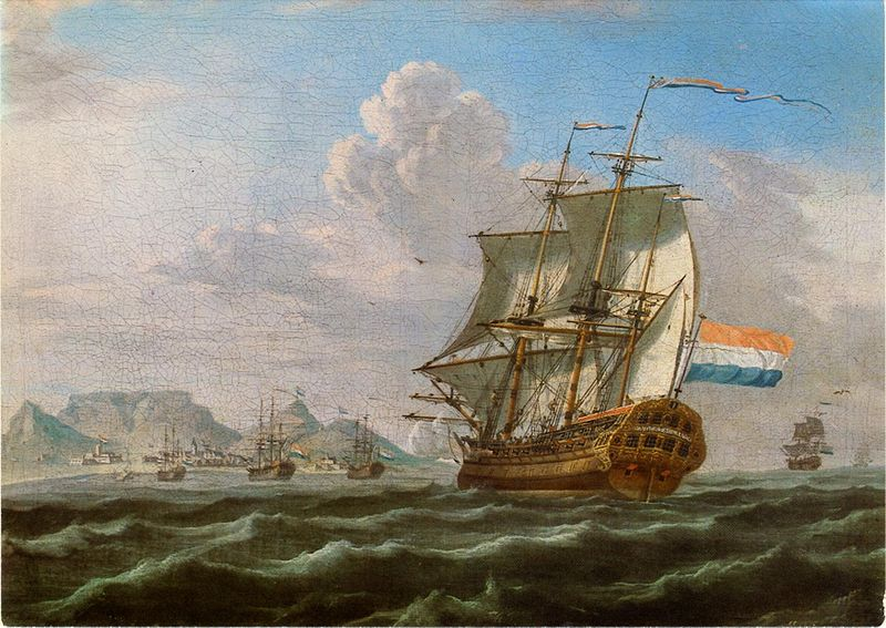 Noord-Nieuwland_in_Table_Bay,_1762