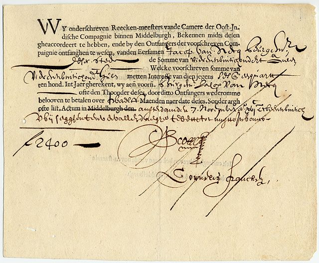 obligacja VOC 1622