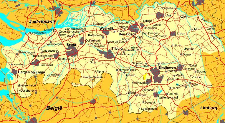 mapa Brabancji