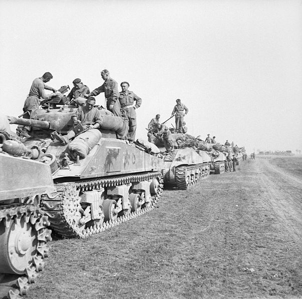 Sherman_tanks_of_1st_Polish_Armoured_Division_assembled_for_Operation_'Totalise',_Normandy,_8_August_1944._B8823