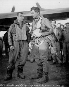 GABLE-Clark-Captain-USAAF-with-CALHOUN-William-C.-Captain-USAAS-4-May-1943